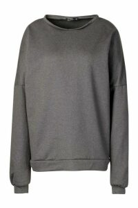 Womens Premium Oversized jumper - grey - M, Grey