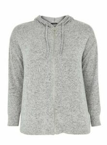 Grey Soft Touch Zip Through Hoodie, Grey