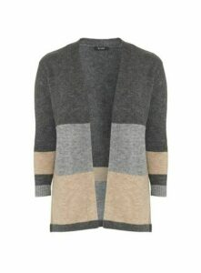 Grey Stripe Cardigan, Black
