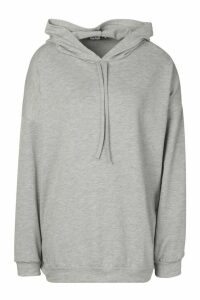 Womens Oversized Hoodie - Grey - L, Grey