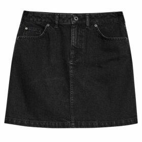 Jack Wills Roxy Denim Skirt - Black