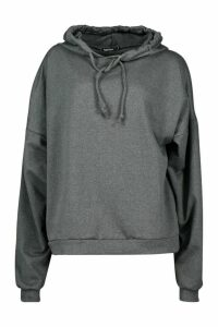 Womens Premium Extreme Oversize Back Print Hoodie - Grey - S, Grey