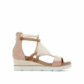 Leather Wedge Heel Sandals