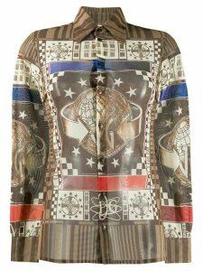 Jean Paul Gaultier Pre-Owned 1994 World print shirt - NEUTRALS