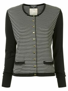 Chanel Pre-Owned 1995 striped cardigan - Black