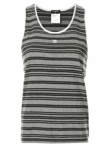 Chanel Pre-Owned striped tank top - Grey
