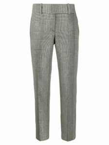 Ermanno Scervino cropped checked trousers - Black