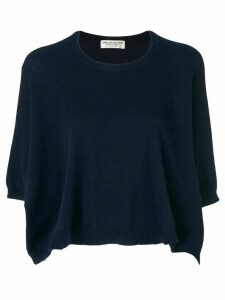 Comme Des Garçons Pre-Owned cropped knitted jumper - BLUE
