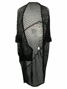 Yohji Yamamoto Pre-Owned 2000s asymmetric knitted cardigan - Black