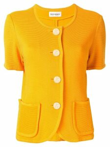 Yves Saint Laurent Pre-Owned ribbed cardigan - Yellow