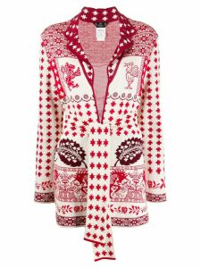 John Galliano Pre-Owned 1990's intarsia cardigan - Red