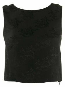 Christian Dior Pre-Owned 2000s floral jacquard top - Black