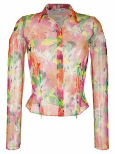 Christian Dior Pre-Owned 2003 sheer floral shirt - PINK