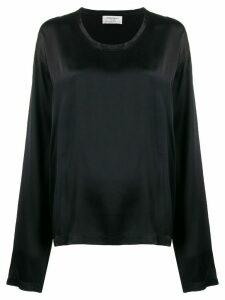 Yves Saint Laurent Pre-Owned 1990's longsleeved fluid blouse - Black