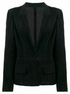 Yves Saint Laurent Pre-Owned 1990's deep v-neck jacket - Black