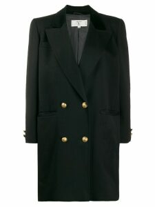Valentino Pre-Owned 1980's double-breasted coat - Black