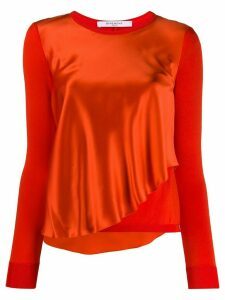 Givenchy Pre-Owned drape front blouse - ORANGE