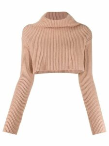 Valentino Pre-Owned cropped roll neck jumper - PINK