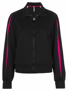 No Ka' Oi stripe print sports jacket - Black