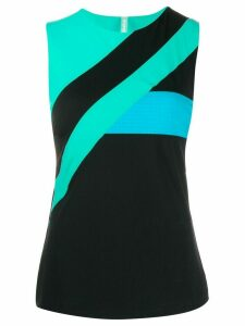 No Ka' Oi colour block sleeveless top - Black