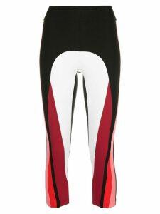 No Ka' Oi colour block sports leggings - Black