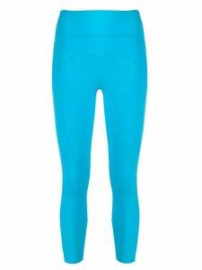 No Ka' Oi rear print cropped leggings - Blue