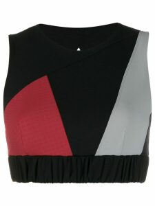 No Ka' Oi colour block cropped top - Black