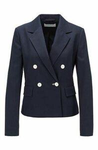 Regular-fit jacket in structured stretch cotton