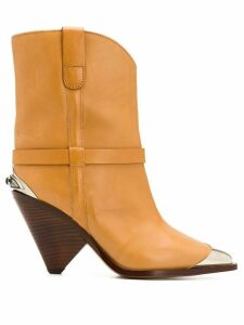 Isabel Marant pointed toe ankle boots - NEUTRALS