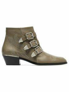 Chloé Susanna 30 Studded Ankle Boots - Brown