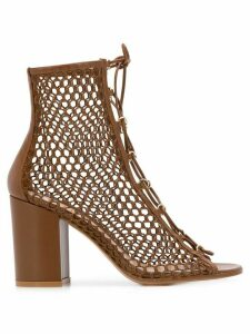 Gianvito Rossi caged high heel sandals - Brown