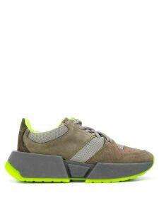Mm6 Maison Margiela colour-block panelled sneakers - Brown
