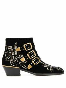 Chloé buckle studded ankle boots - Black