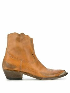 Golden Goose Young western boots - NEUTRALS