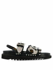 Toga Pulla multiple straps slingback sandals - Black