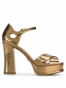 Michael Michael Kors platform sandals - GOLD