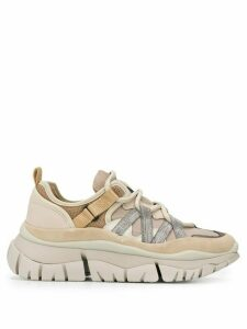 Chloé Blake panelled sneakers - NEUTRALS