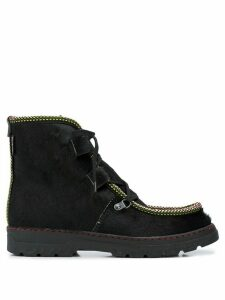 Penelope Chilvers Incredible braid-trimmed ankle boots - Black
