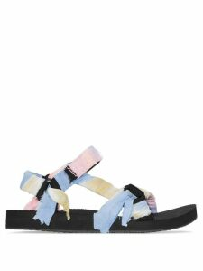 Arizona Love panelled knotted flat sandals - PINK