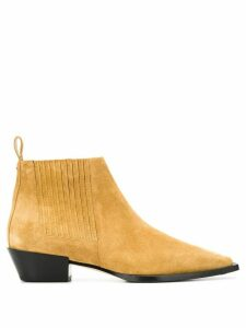 Aeyde suede ankle boots - NEUTRALS