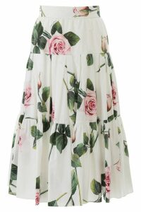 Dolce & Gabbana Tropical Rose Layered Skirt