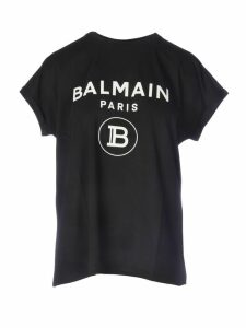Balmain Ss Glitter Logo T-shirt