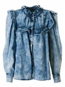 Isabel Marant Ruffle Detail Denim Blouse