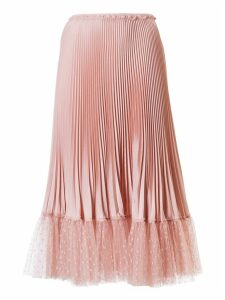 RED Valentino Ruffled Waist Pleated Skirt