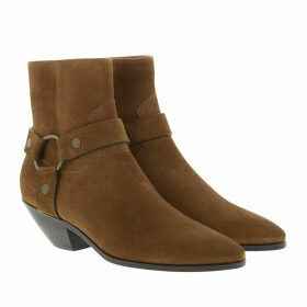 Saint Laurent Boots & Booties - West Harness Boots Leather Brown - brown - Boots & Booties for ladies