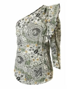 Isabel Marant Étoile Printed Detail One-sleeve Top