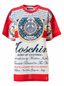 Moschino King Of Clothes All Over Print T-shirt