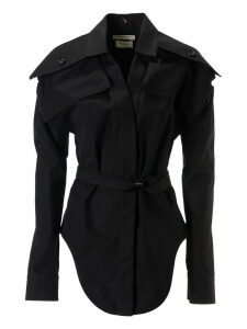 Bottega Veneta Belted Long-sleeve Shirt