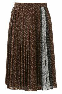 Burberry Monogram Pleated Skirt
