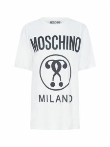 Moschino Double Question Mark Over Short Sleeve T-shirt